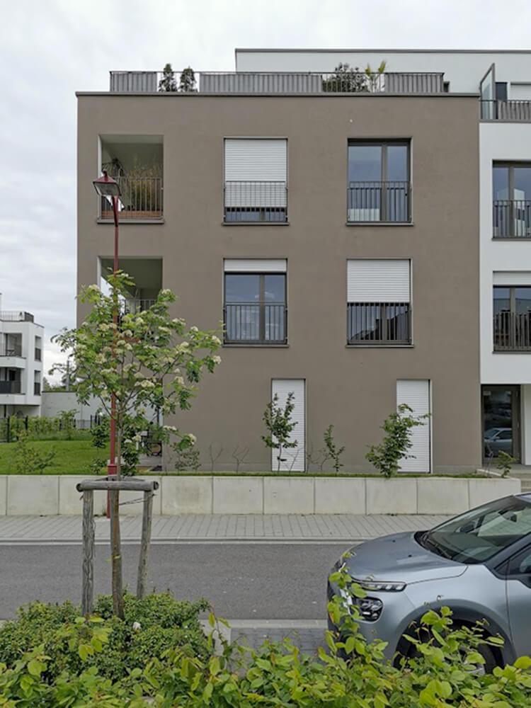 façade gris taupe - Cité Op Hudelen Schifflange